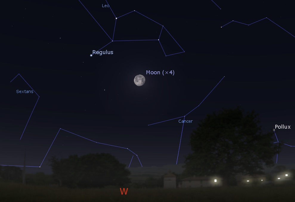 Western predawn sky