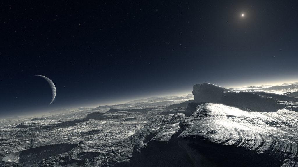 Artist's impression of Pluto's surface. Image credit: ESO/L. Calçada