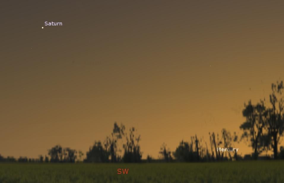Southwestern sky at dusk