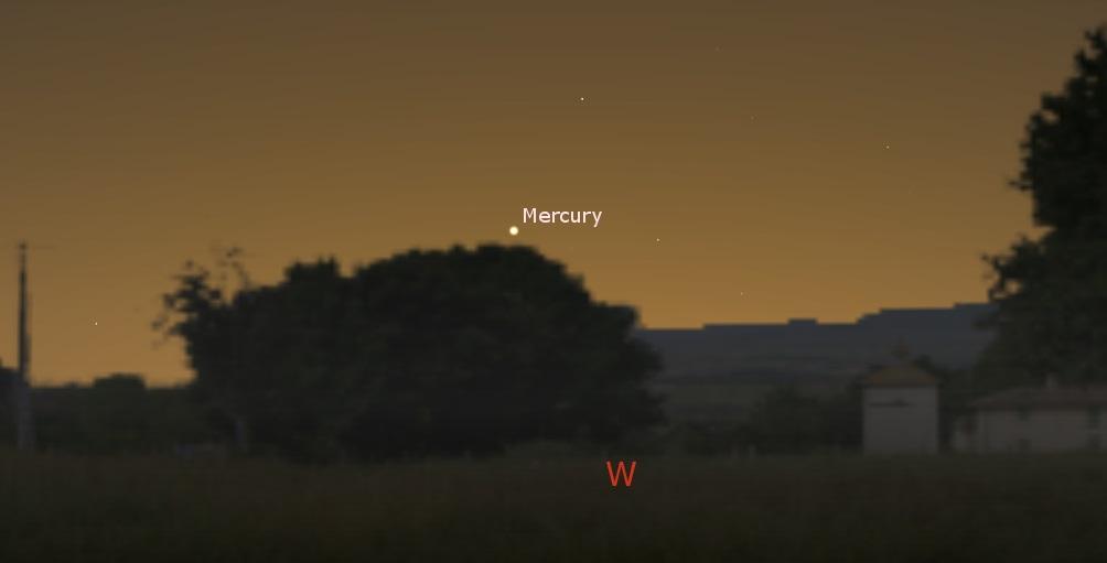 Mercury in the western sky