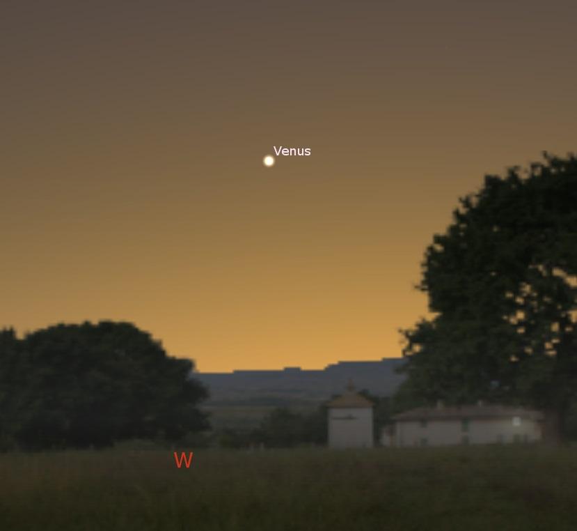 Venus in the western sky, Apr. 3, 2018