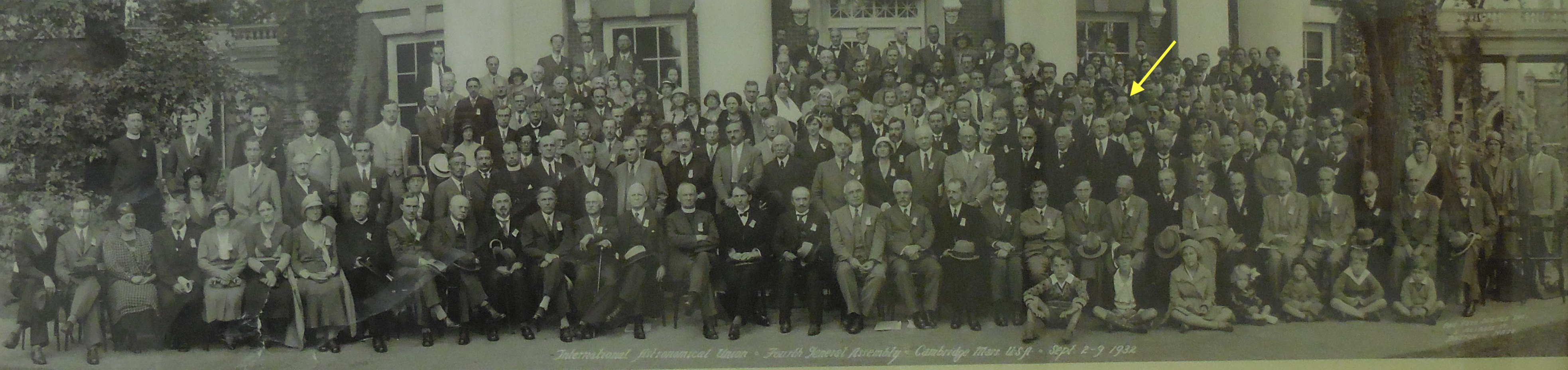 Lemaitre at IAU in 1932.