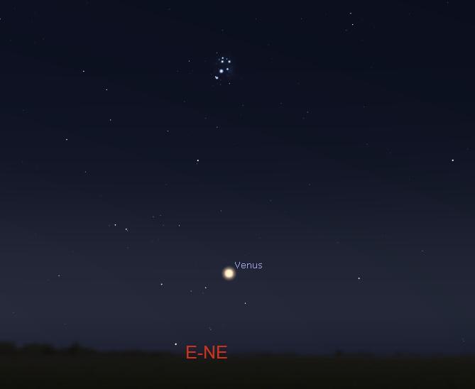 East-northeastern sky