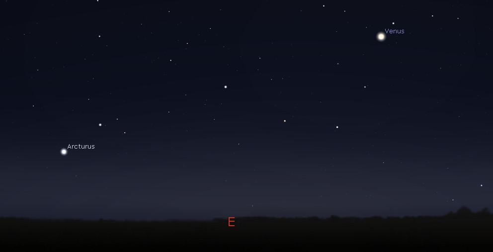 Eastern predawn sky