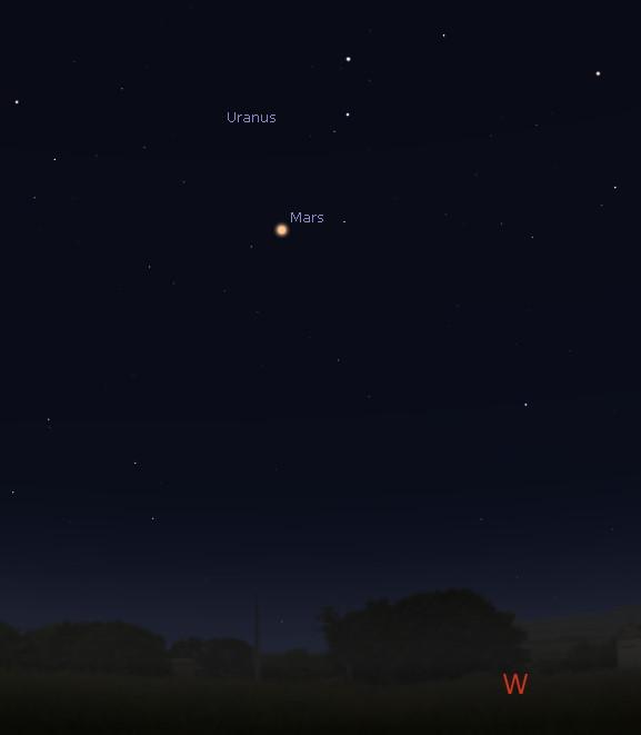Western horizon before midnight