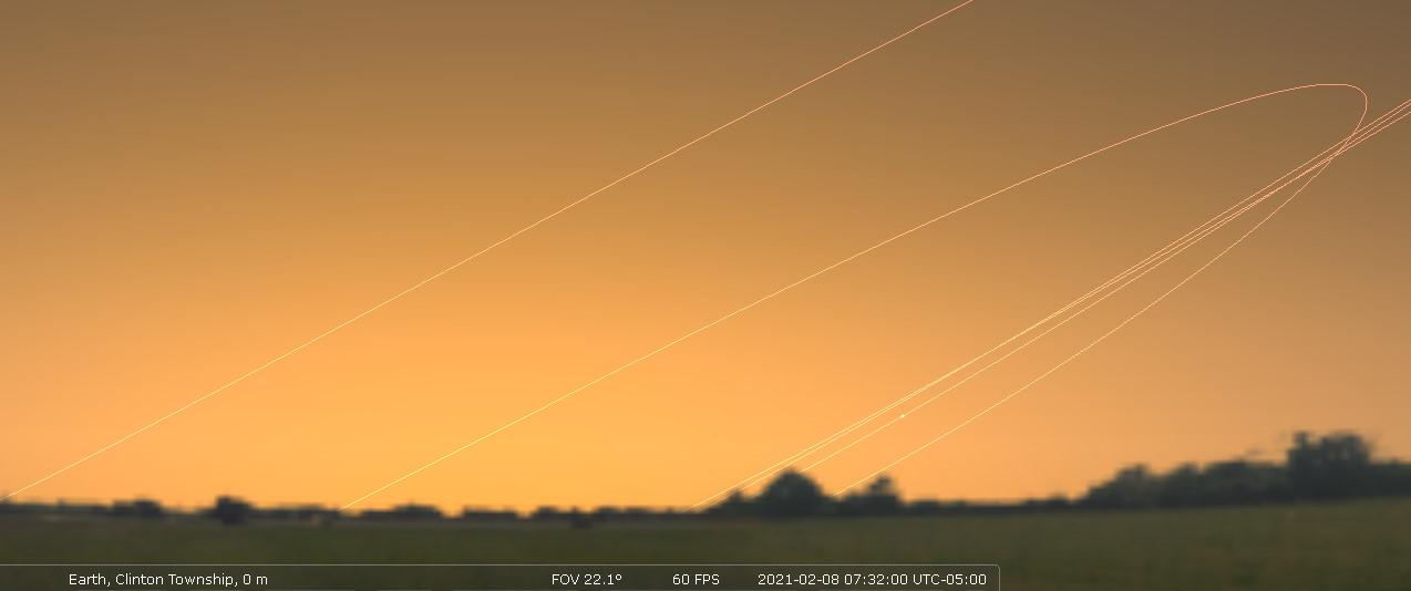 East-southeastern sky