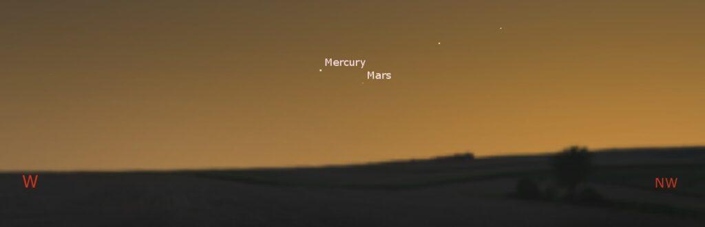 Mercury and Mars