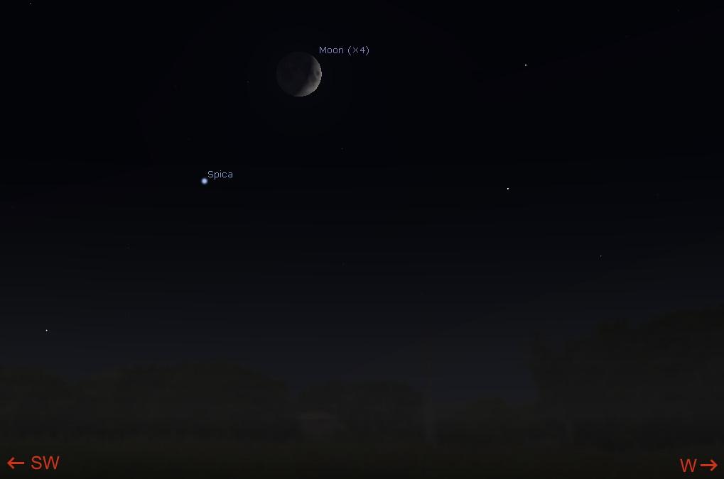 Moon near Spica