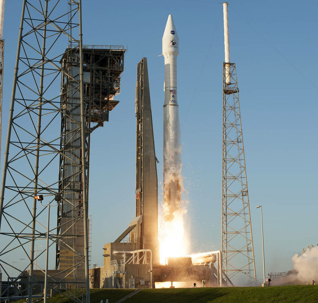 Liftoff of OSIRIS-REx from Pad 41. Photo credit: NASA/Sandy Joseph and Tim Terry