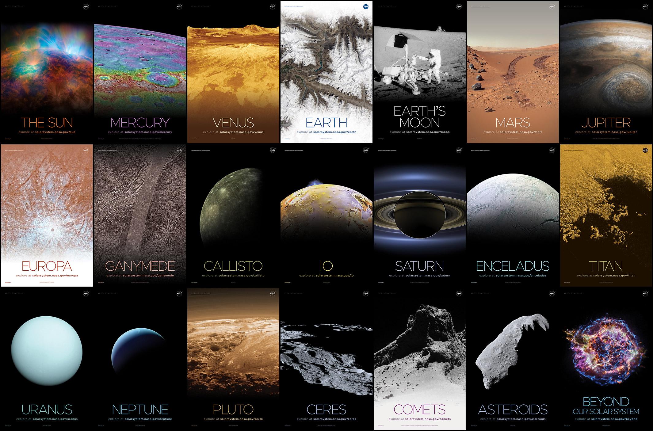 NASA Solar System Posters