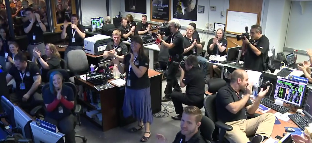 Applause at Mission Ops