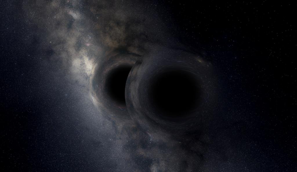 Visualization of Binary Black Holes in Universe Sandbox²