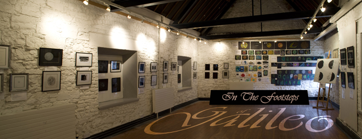 A photograph of the Science Gallery at Birr Castle filled with astronomical drawings from many contributors around the globe. International Year of Astronomy 2009 - Credit Bernard Kelleghan