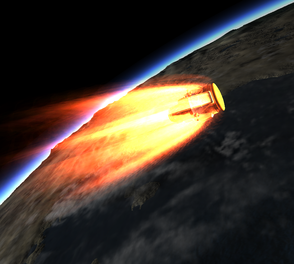 Bringing Science Home from a Space Station in Kerbal Space Program. Reentry is always exhilarating!