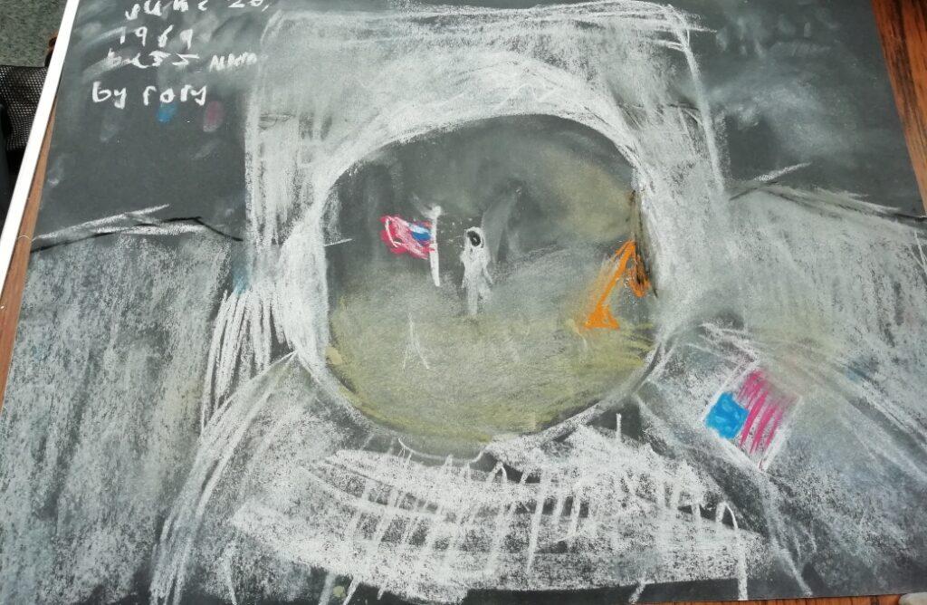 Castlebar Library Buzz Aldrin drawing
