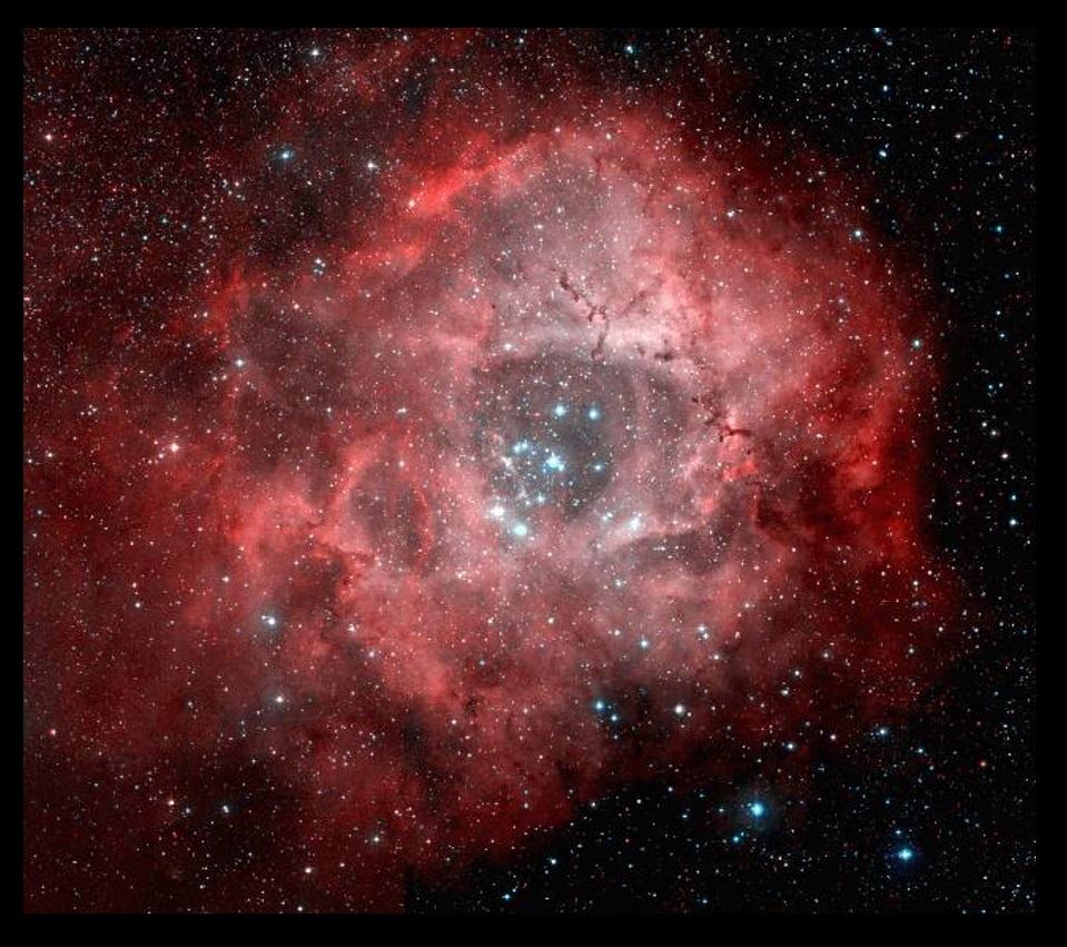 The Rosette Nebula and NGC 2244.