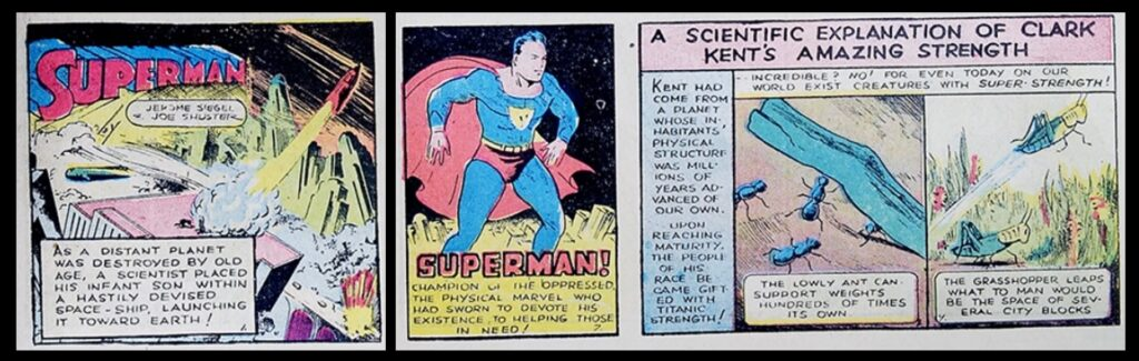 The man from the doomed planet Krypton first appeared in Action Comics #1 in 1938.