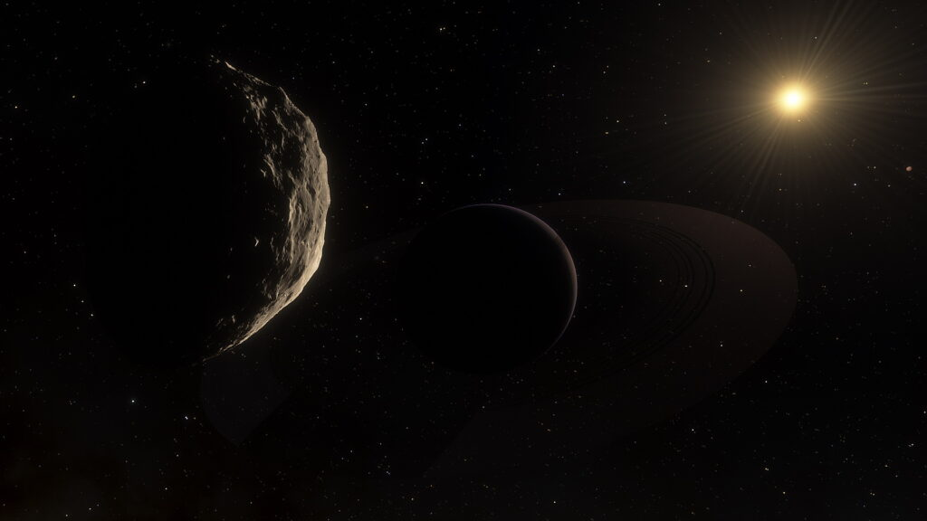 Artist's concept of a planet orbiting DX Cancri