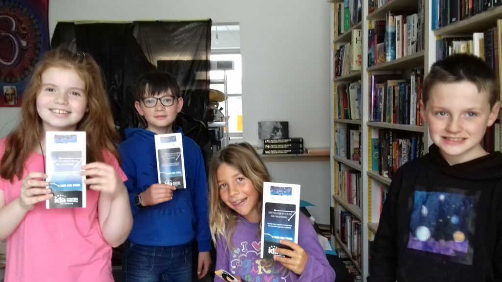 Happy with their Dark Sky leaflets from Mayo Dark Skies
