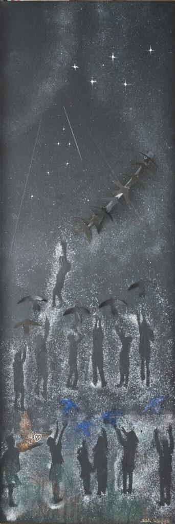 Dark Sky Painting 2 - We live in Space
