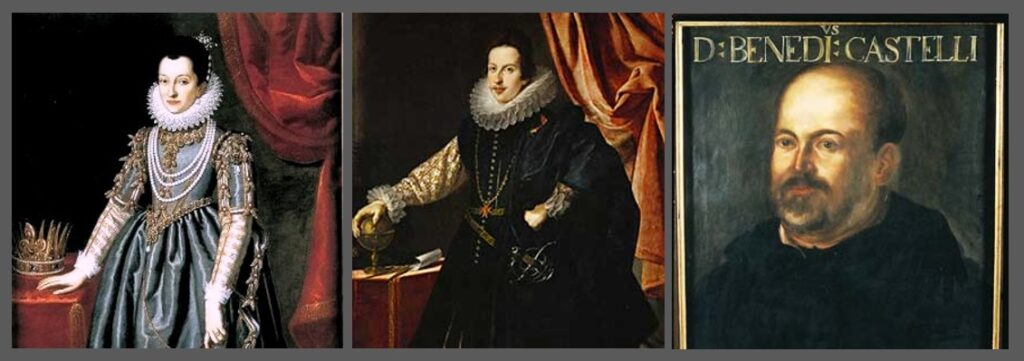 Christina of Lorraine, Benedetto Castelli, and Cosimo II de' Medici