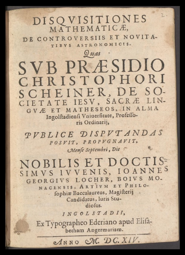 The Title Page of Disquisitions
