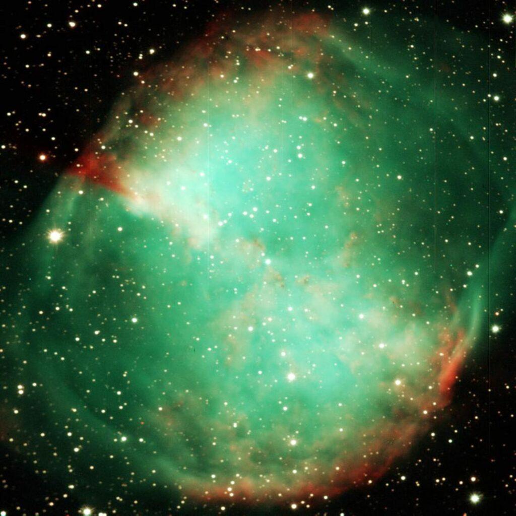VATT Image of the Dumbbell Nebula. Image Credit: Vatican Observatory.