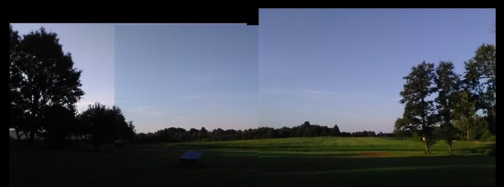 August 21: Morning breaks to clear skies at the Hensley farm.