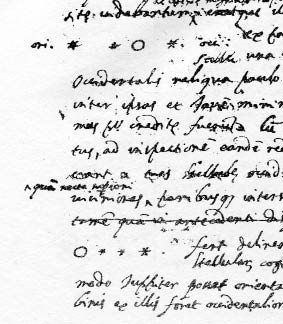 This copy of Galileo's text for his first book includes his hand-drawn diagram of Jupiter and its moons