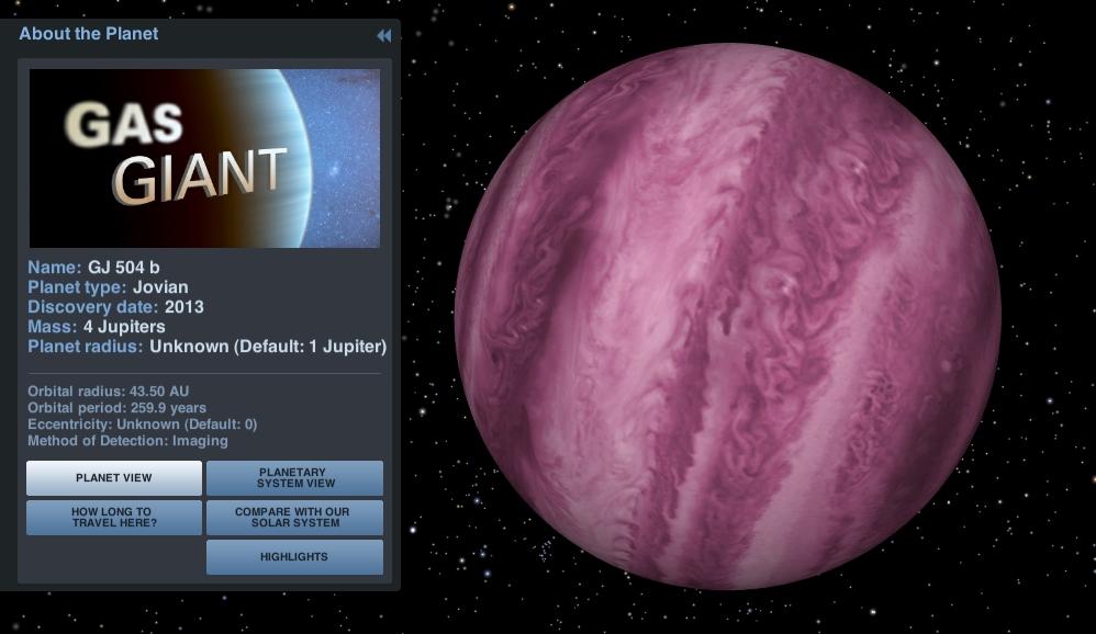 Exoplanet GJ 504 b