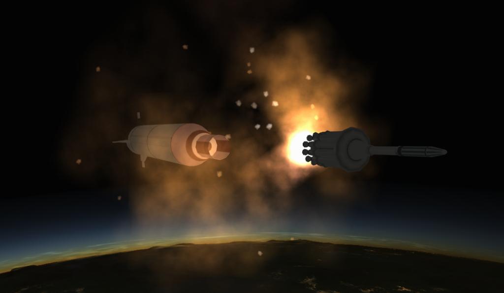 Explorer 1 Stage Separation