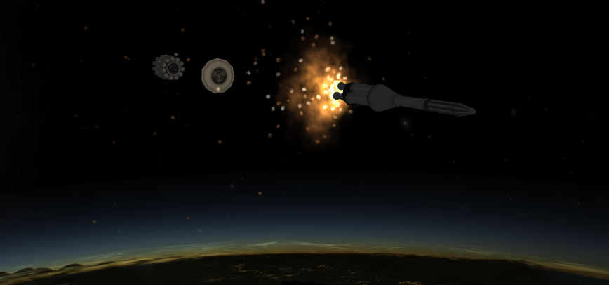 Explorer 1 Stage Separation #2