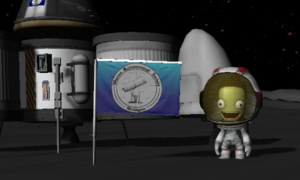 Flag planted on the Mun