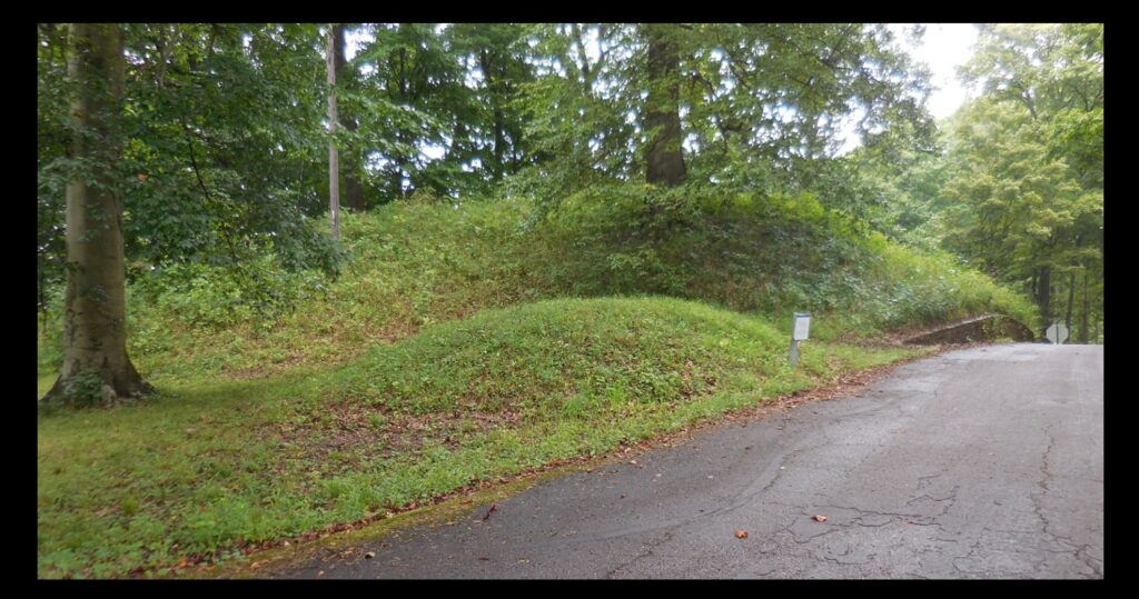 Some of the walls and mounds of Fort Ancient.