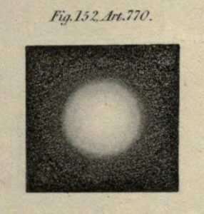 Unlike Galileo, John Herschel (who lived three centuries later) understood that the appearance of a star in a small telescope is entirely spurious: This is not the body of a star, as Galileo thought, but an artefact of light formed inside the telescope.