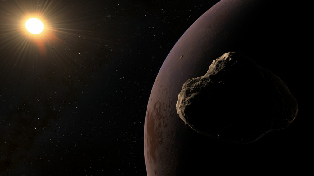 Artistic rendering of an exoplanet orbiting Gliese 3622