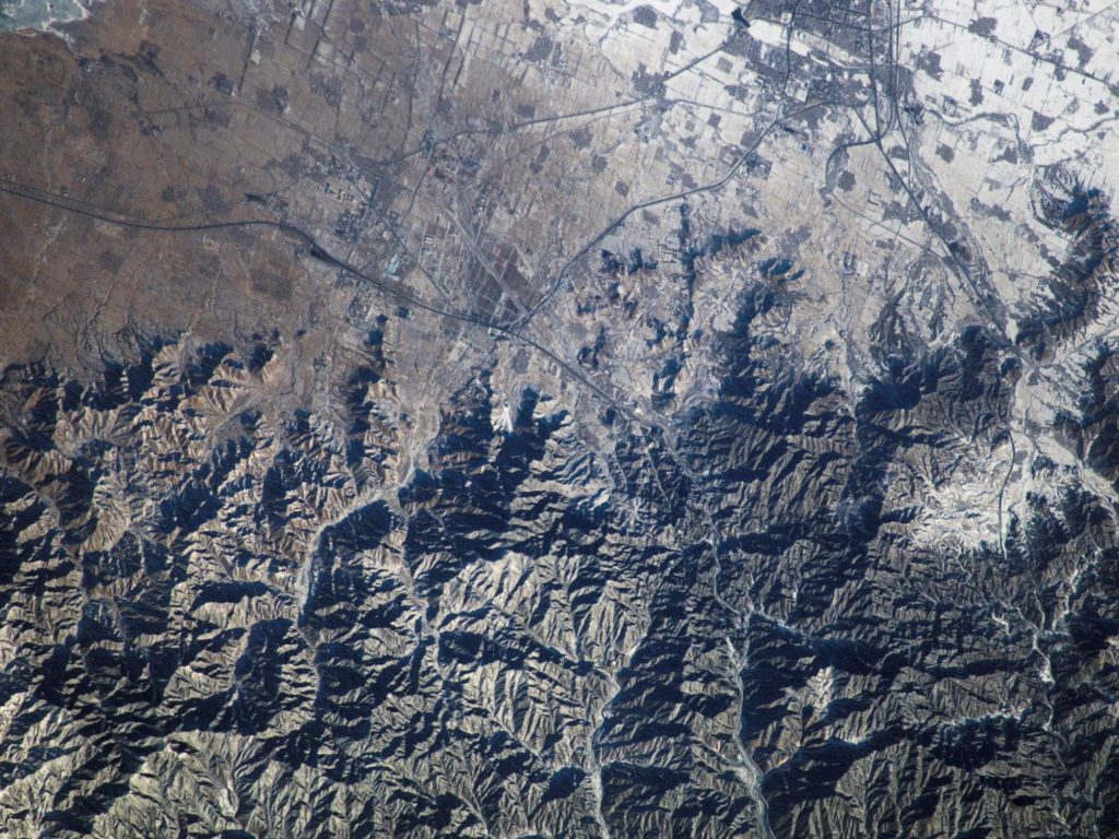 Image of the Great Wall from Space.