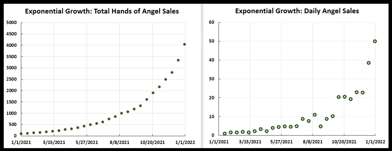 "Hands of an Angel sales when there is some ""noise"" in the sales figures."