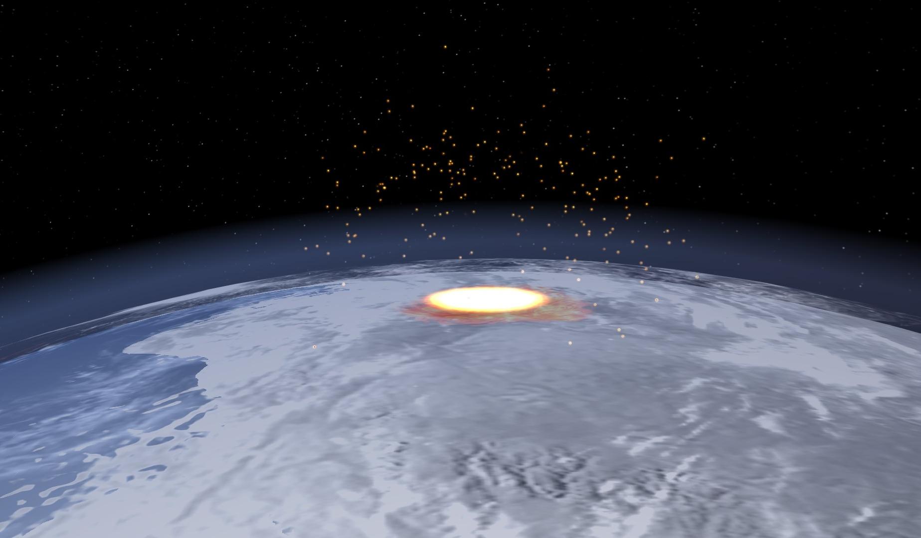 Hiawatha Crater Impact