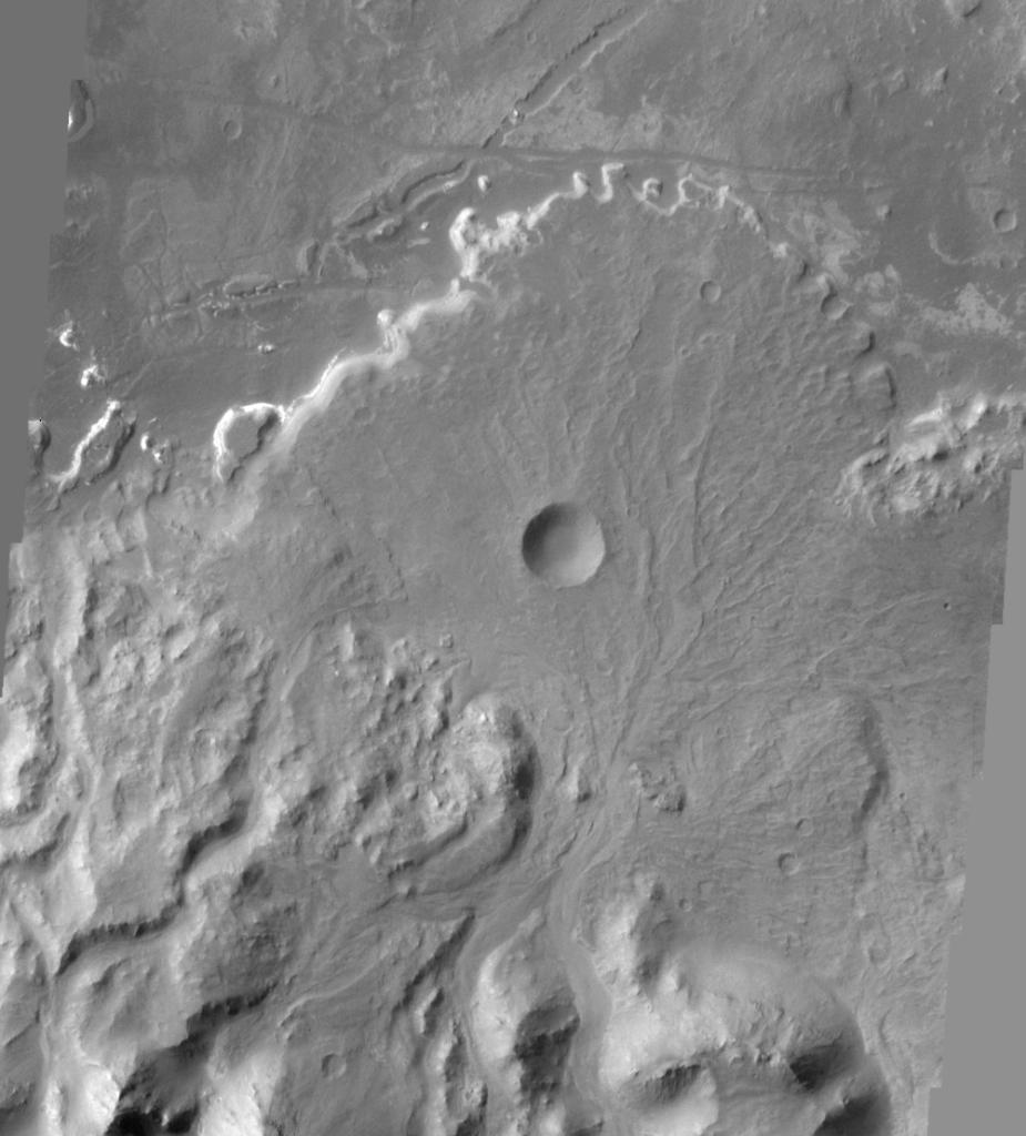 Holden Crater Alluvial Fan on Mars. Credit Image Credit: NASA/JPL/ASU