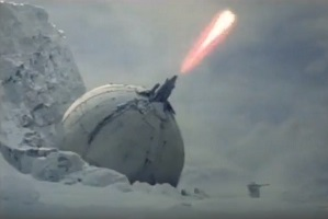 On Hoth the planet, where the weather is cold and the ion blasts are hot, there is still life.