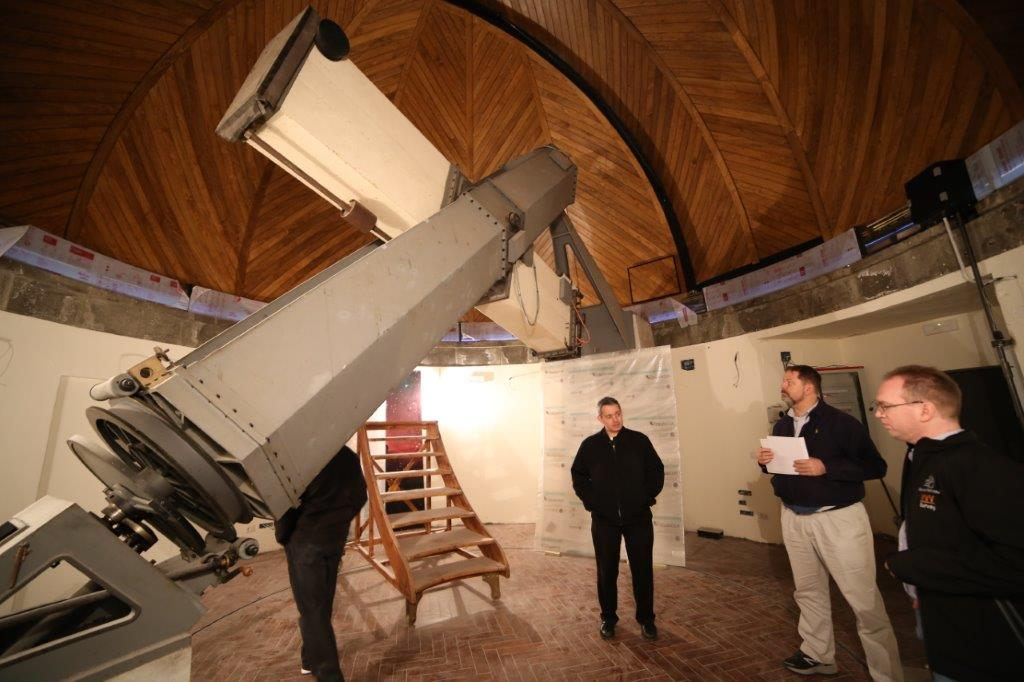 The Carte du Ciel telescope is in a dome in the Papal Gardens which we are preparing to open as a Visitor Center. Stay tuned!
