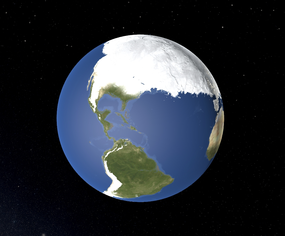 Ice Age Earth. Credit: Universe Sandbox².