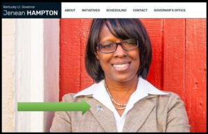 (Chris Graney added this figure and caption to Prof. Dowling's post) Kentucky's Lieutenant Governor, Jenean Hampton, skipped a meeting with the US VP to be at the eclipse. This is a screen shot from her official Lt. Governor web page. Is that a Star Trek pin she is wearing? It just might be!