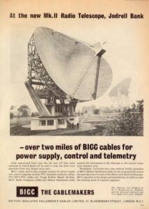 A 1965 advertisement in New Scientist featuring a new radio telescope.