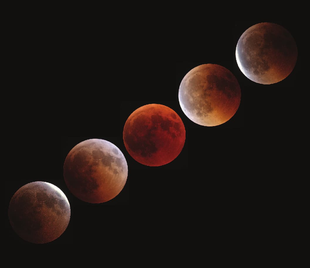 Pre, Start, Maximum, End and Post-Totality (TLE2018)