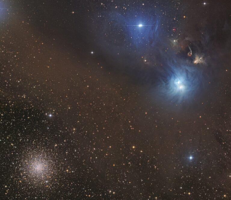 NGC 6726/6727 nebulae and globular cluster NGC 6723