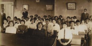 Early photograph of students at Kentucky's State Normal School for Colored Persons.