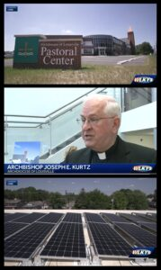 Clips from local news coverage of the Archdiocese of Louisville's solar panel array (WLKY, May 30, 2018).