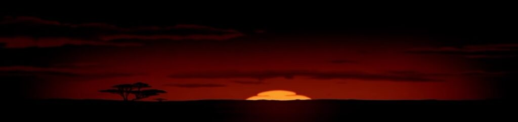 """Click the image or click here to see the effect discussed by Rice, as well as Locher and Scheiner, as animated in the original """"Lion King"""" movie."""